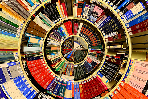 Circular formation of a variety of books